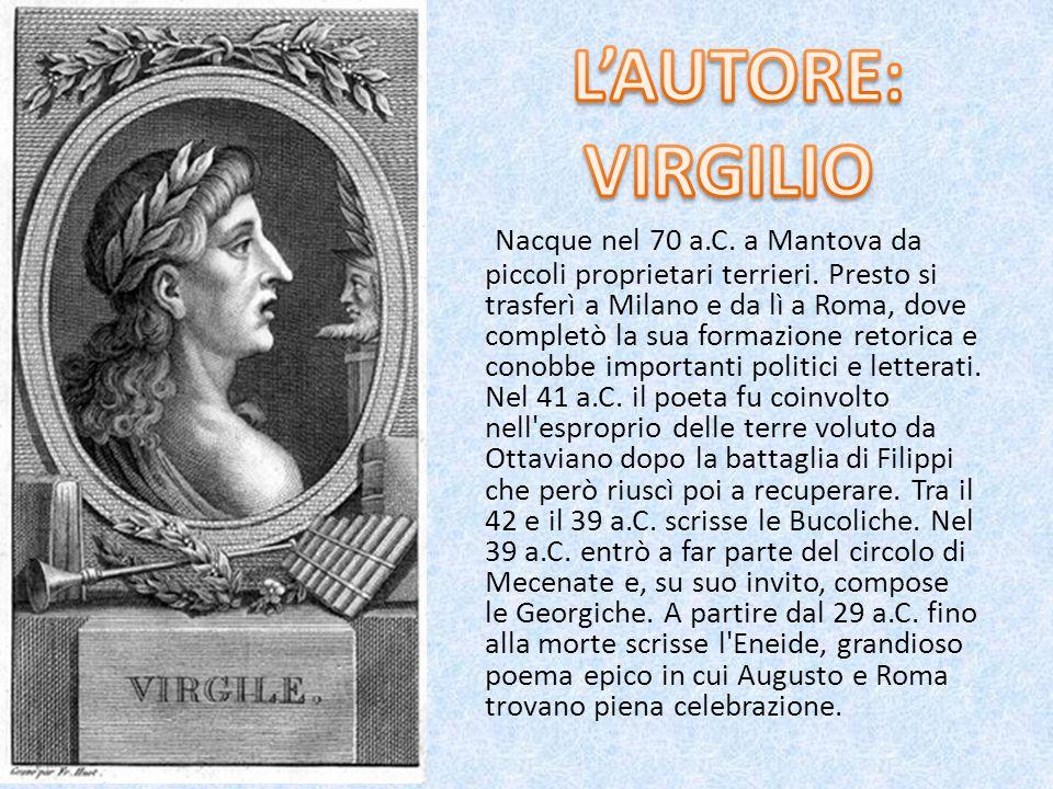 Nacque nel 70 a.C.a Mantova da piccoli proprietari terrieri.