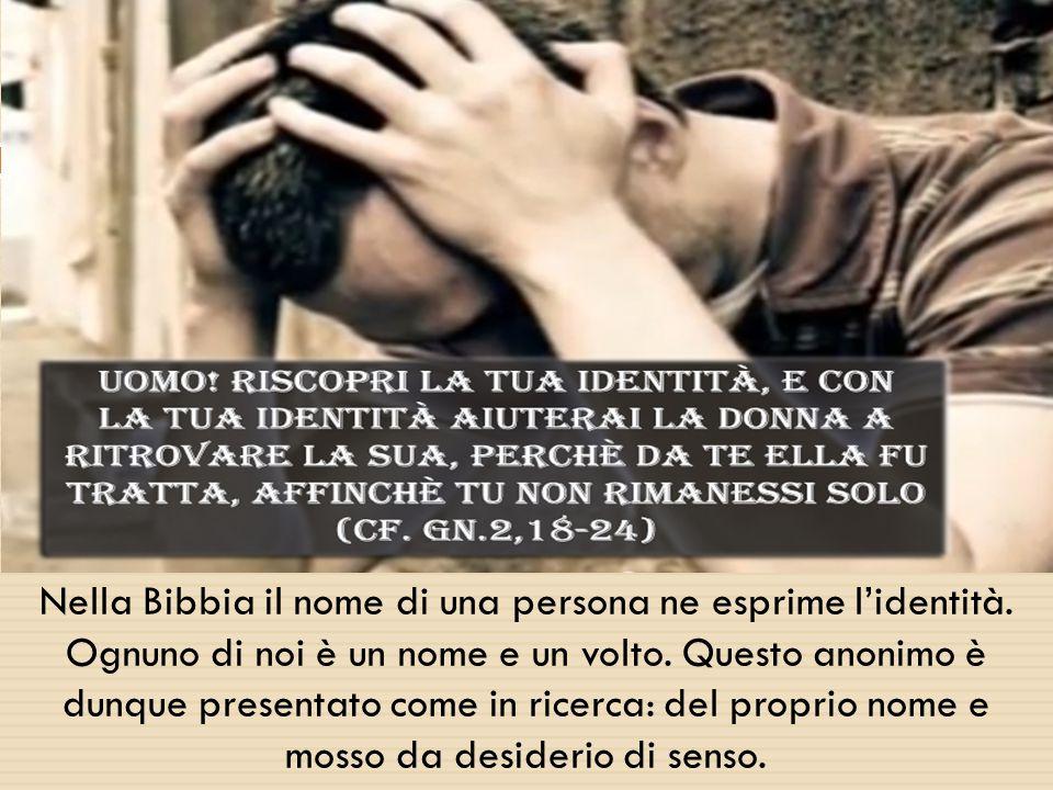 Nella Bibbia il nome di una persona ne esprime l'identità.