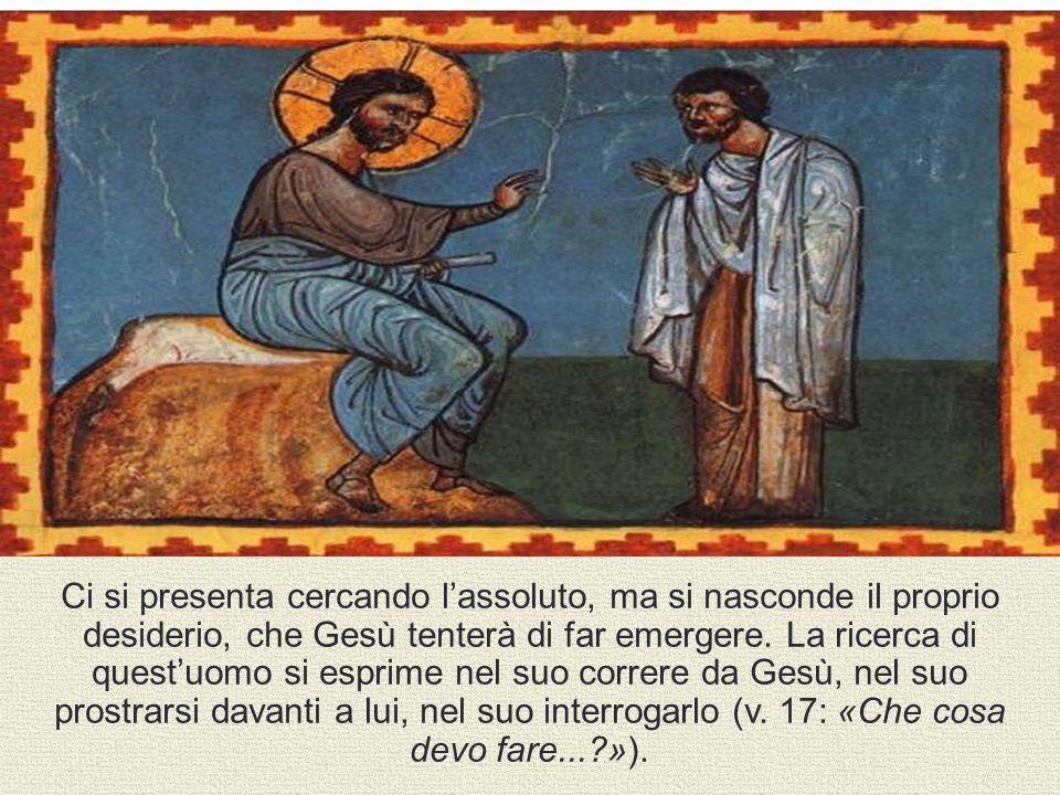 Ci si presenta cercando l'assoluto, ma si nasconde il proprio desiderio, che Gesù tenterà di far emergere.