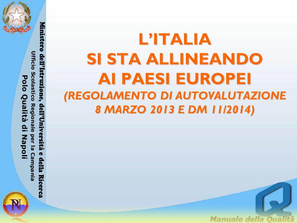 L'ITALIA SI STA ALLINEANDO AI PAESI EUROPEI (REGOLAMENTO DI AUTOVALUTAZIONE 8 MARZO 2013 E DM 11/2014)
