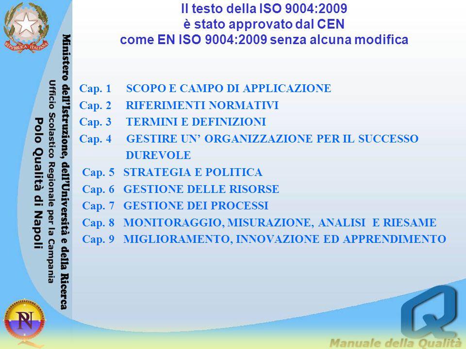 Cap.1 SCOPO E CAMPO DI APPLICAZIONE Cap. 2 RIFERIMENTI NORMATIVI Cap.