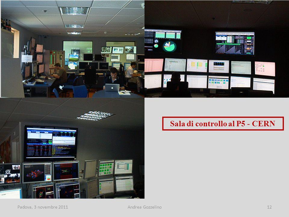 Padova, 3 novembre 2011Andrea Gozzelino12 Sala di controllo al P5 - CERN