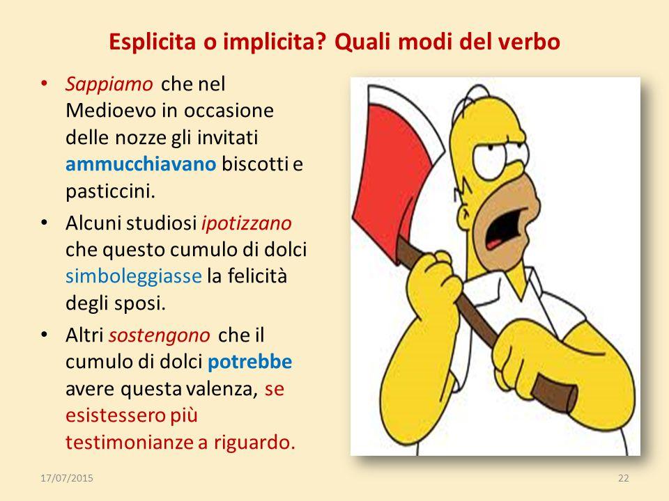 Le oggettive dipendono da verbi e locuzioni che esprimono 1.affermazione/dichiarazi one/conoscenza (verbi enunciativi): Gli studenti promettono di imp
