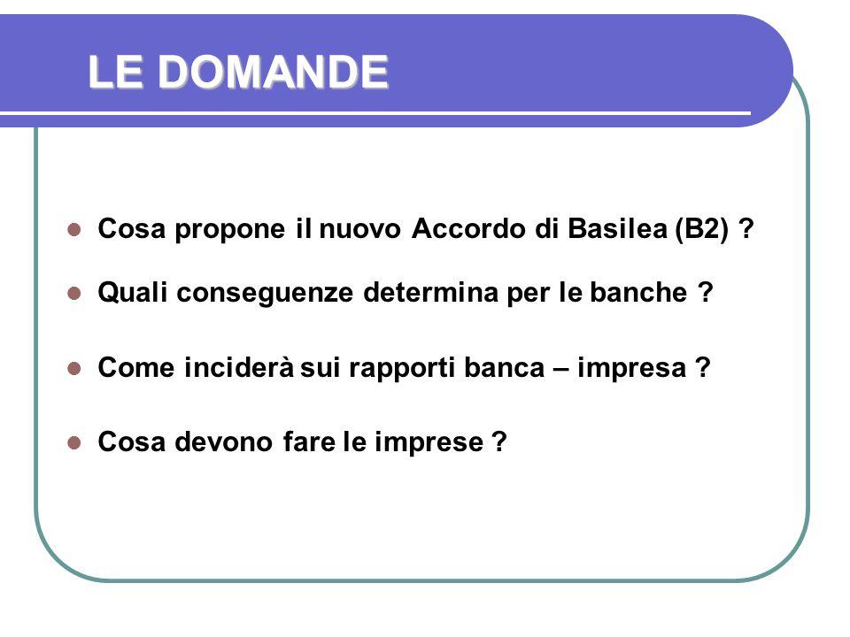 LE DOMANDE Cosa propone il nuovo Accordo di Basilea (B2) .