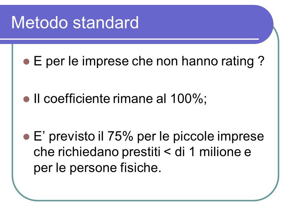 Metodo standard E per le imprese che non hanno rating .