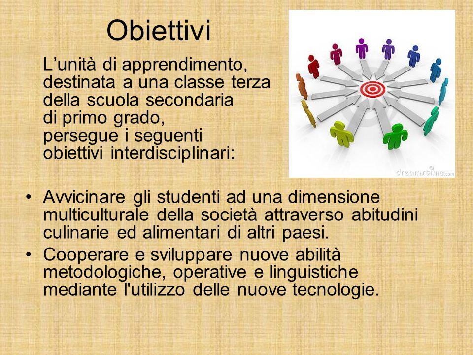 Obiettivi L'unità di apprendimento, destinata a una classe terza della scuola secondaria di primo grado, persegue i seguenti obiettivi interdisciplina