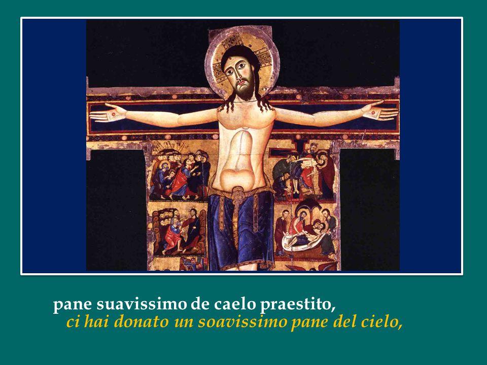 O quam suavis est, Domine, spiritus tuus, O come è soave, Signore il tuo spirito, qui ut dulcedinem tuam in filios demonstrares se per mostrare ai tuoi figli la tua tenerezza,