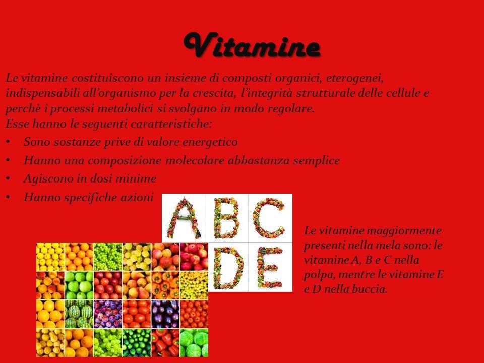 Vitamine Le vitamine costituiscono un insieme di composti organici, eterogenei, indispensabili all'organismo per la crescita, l'integrità strutturale