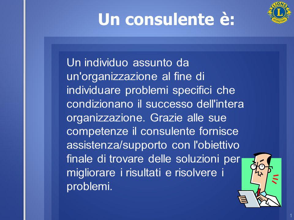 Un consulente è: 1
