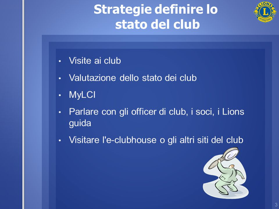 3 Strategie definire lo stato del club
