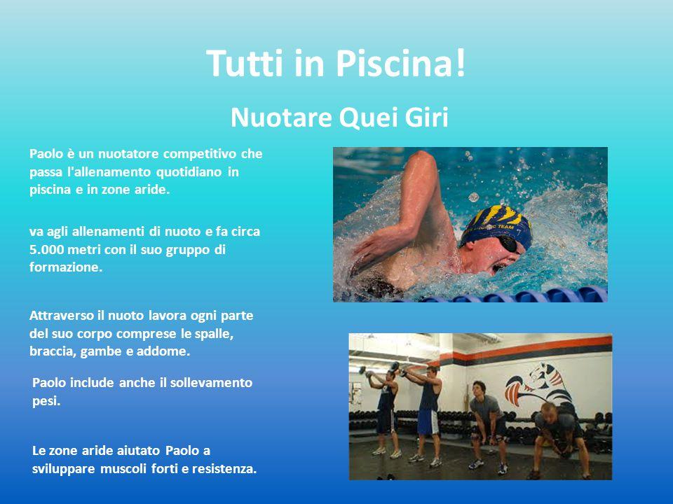 Tutti in Piscina! Nuotare Quei Giri Paolo è un nuotatore competitivo che passa l'allenamento quotidiano in piscina e in zone aride. va agli allenament