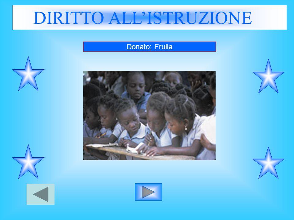 DIRITTO ALL'ISTRUZIONE Donato; Frulla