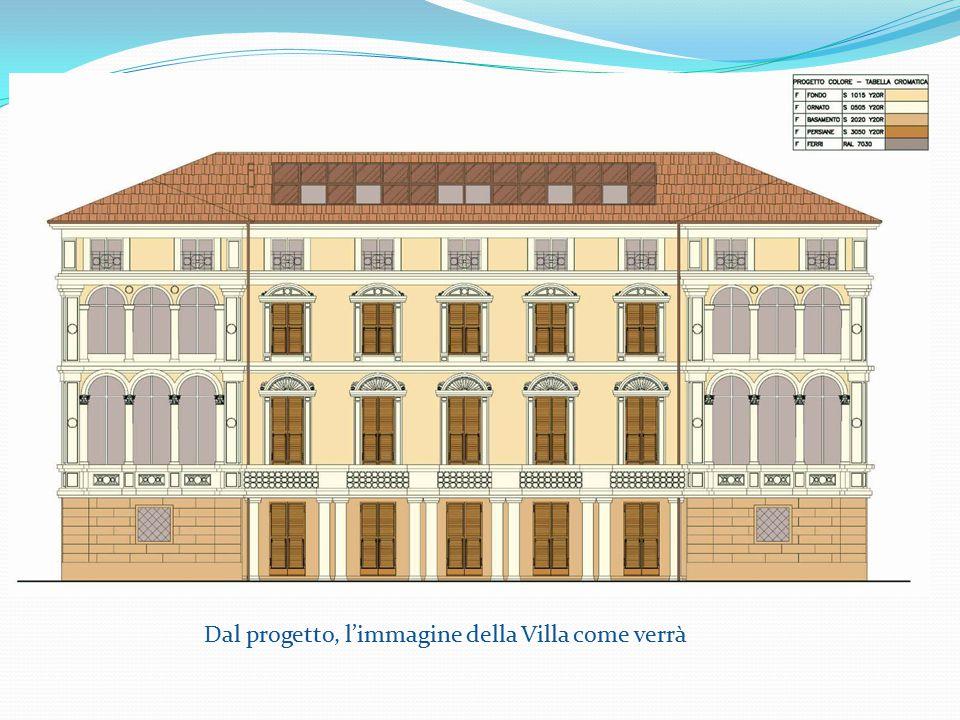 Dal progetto, l'immagine della Villa come verrà