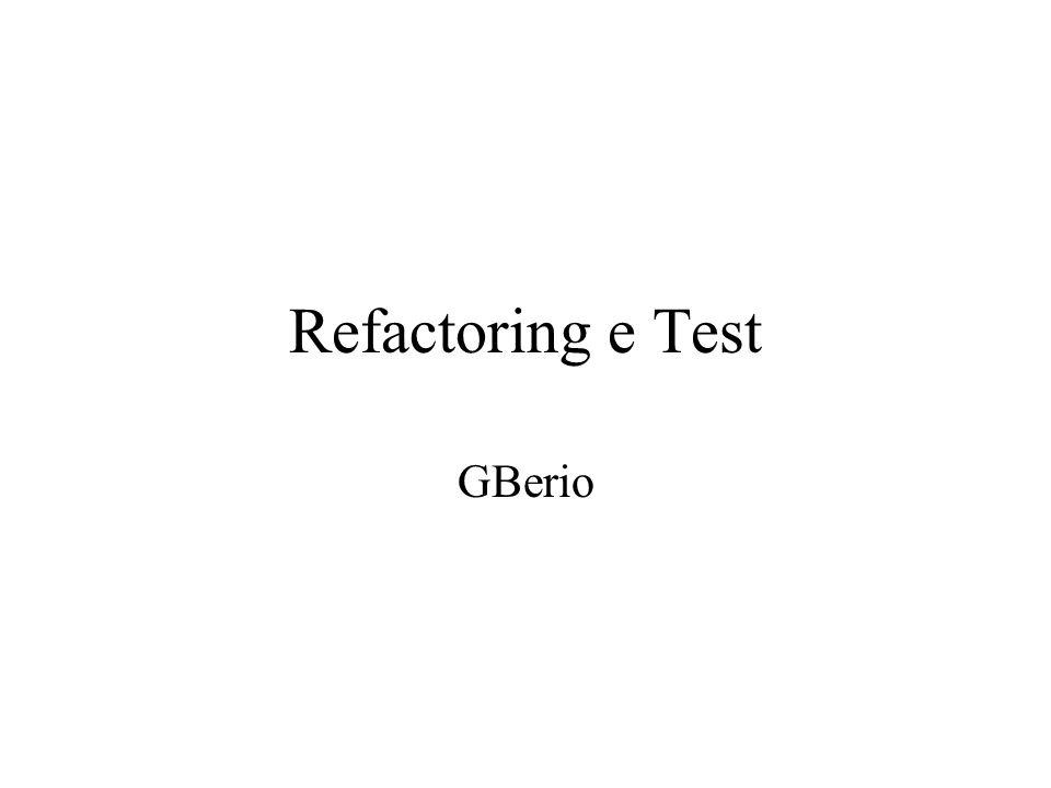 Refactoring e Test GBerio