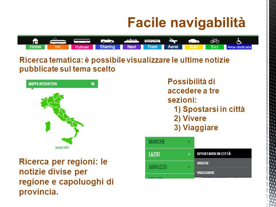 Ricerca per regioni: le notizie divise per regione e capoluoghi di provincia.