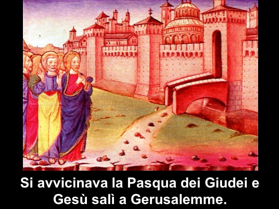 Si avvicinava la Pasqua dei Giudei e Gesù salì a Gerusalemme.