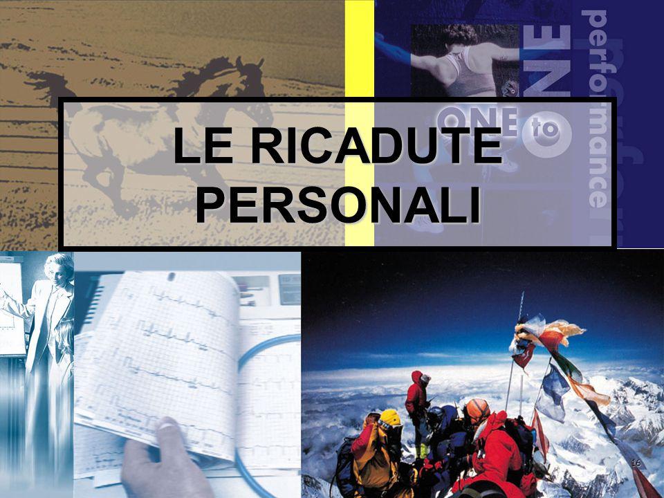 16 LE RICADUTE PERSONALI