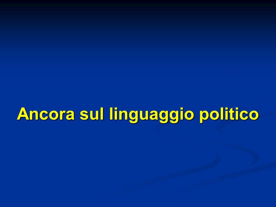 Ancora sul linguaggio politico