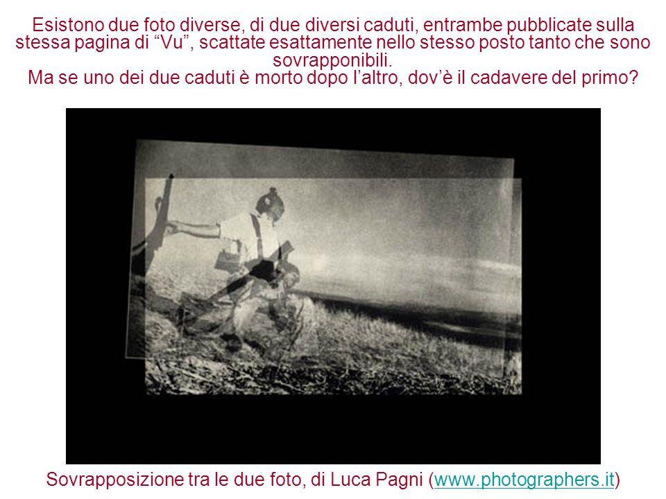 """Esistono due foto diverse, di due diversi caduti, entrambe pubblicate sulla stessa pagina di """"Vu"""", scattate esattamente nello stesso posto tanto che s"""