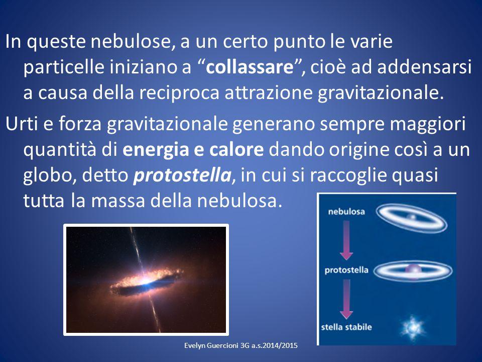 """In queste nebulose, a un certo punto le varie particelle iniziano a """"collassare"""", cioè ad addensarsi a causa della reciproca attrazione gravitazionale"""