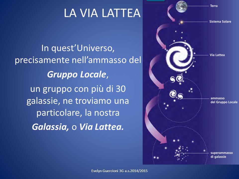 LA VIA LATTEA In quest'Universo, precisamente nell'ammasso del Gruppo Locale, un gruppo con più di 30 galassie, ne troviamo una particolare, la nostra
