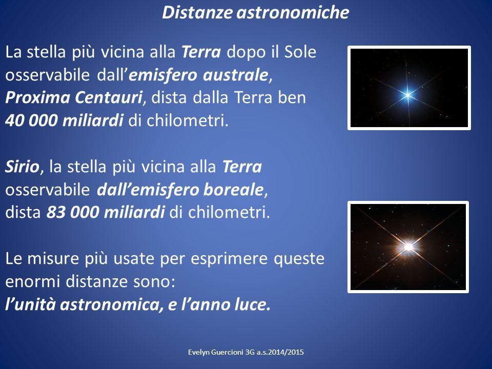 Distanze astronomiche La stella più vicina alla Terra dopo il Sole osservabile dall'emisfero australe, Proxima Centauri, dista dalla Terra ben 40 000