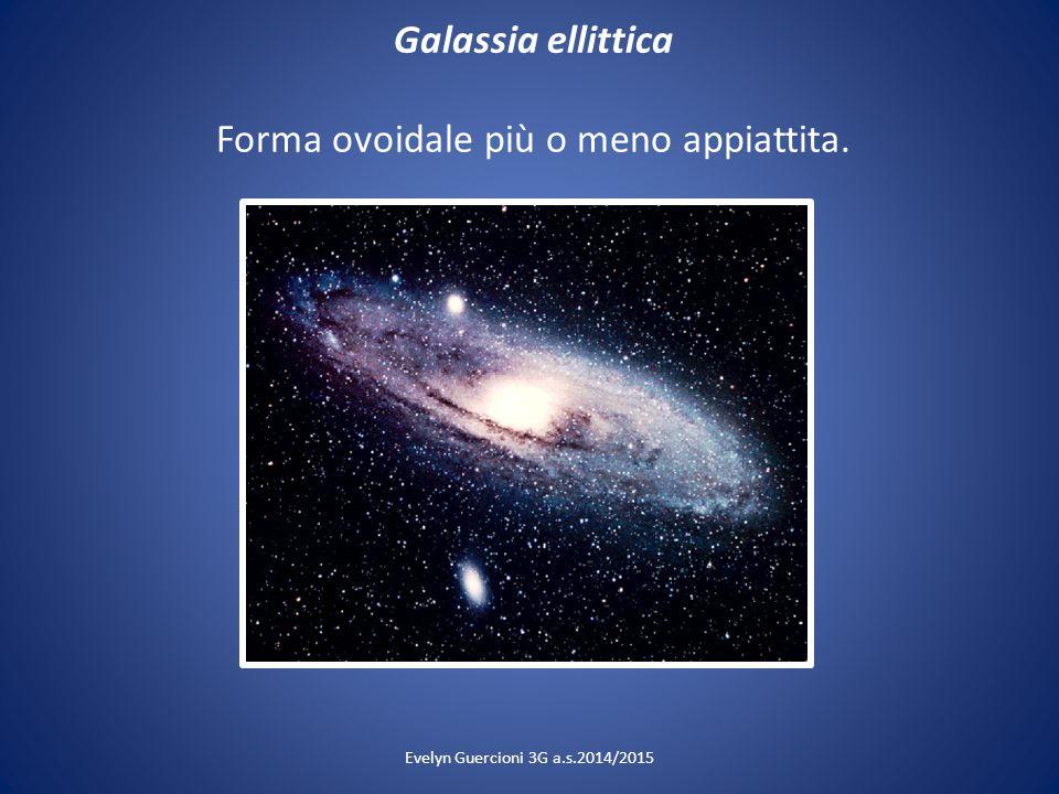 Galassia ellittica Forma ovoidale più o meno appiattita. Evelyn Guercioni 3G a.s.2014/2015