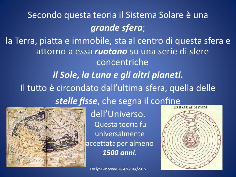Secondo questa teoria il Sistema Solare è una grande sfera; la Terra, piatta e immobile, sta al centro di questa sfera e attorno a essa ruotano su una