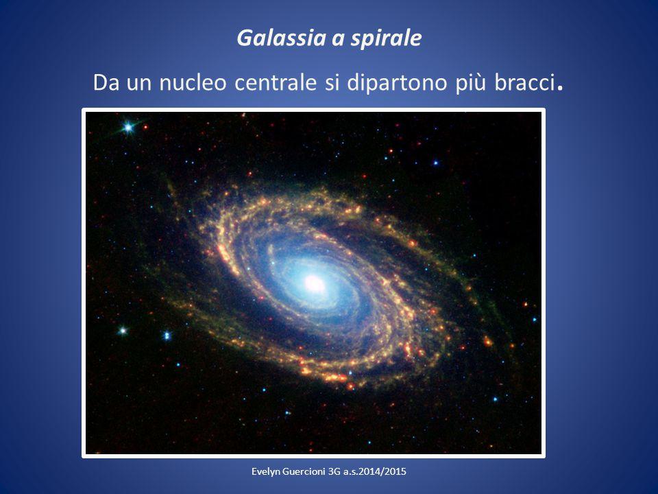 Galassia a spirale Da un nucleo centrale si dipartono più bracci. Evelyn Guercioni 3G a.s.2014/2015