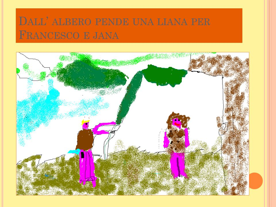 D ALL ' ALBERO PENDE UNA LIANA PER F RANCESCO E JANA