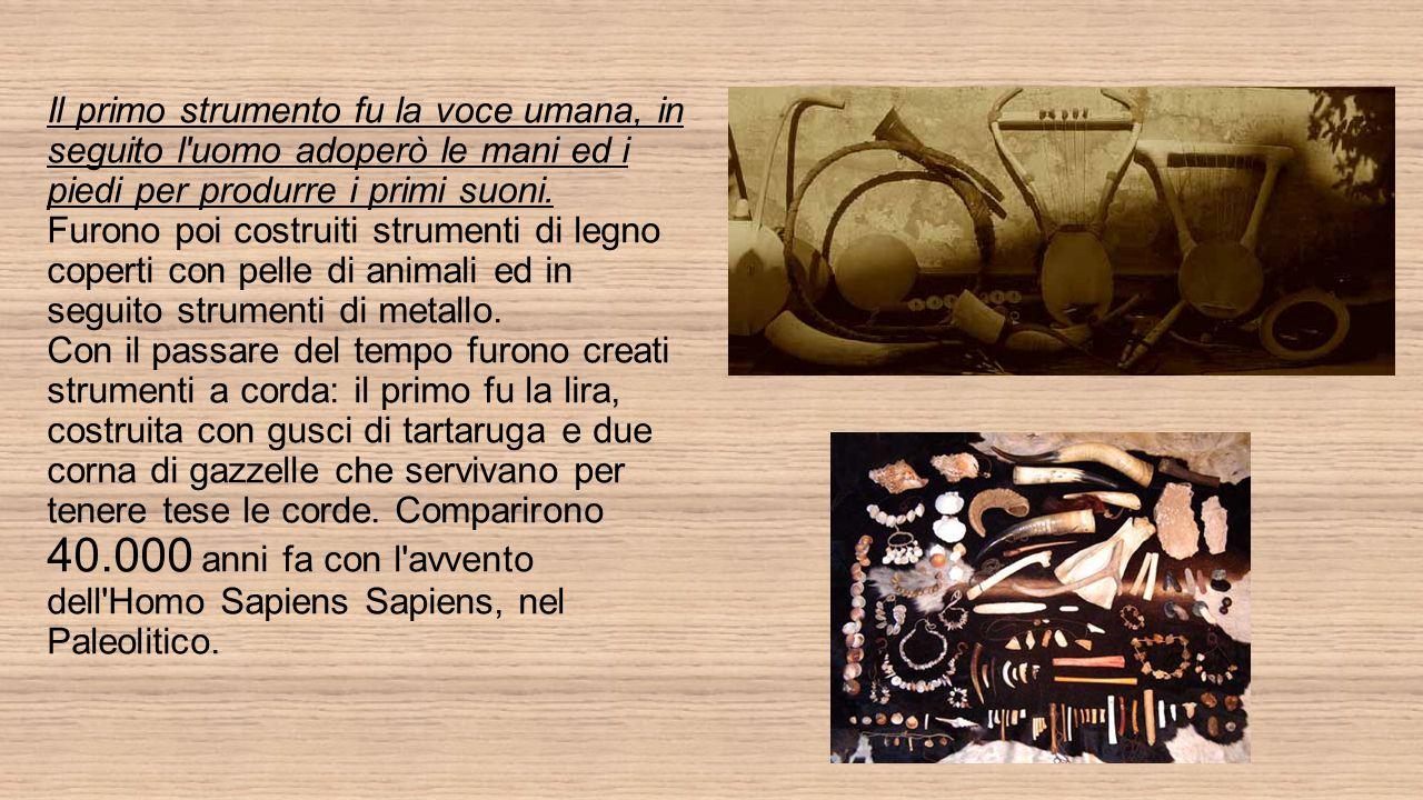 Per i primitivi il suono era un espressione concreta del mondo spirituale.