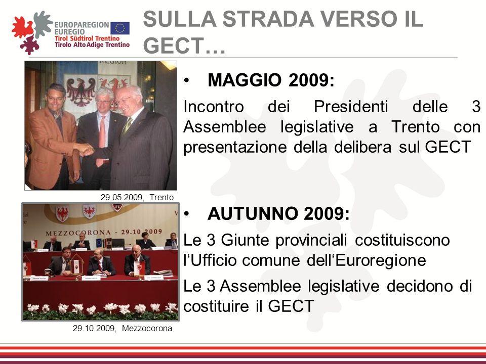 29.05.2009, Trento 29.10.2009, Mezzocorona MAGGIO 2009: Incontro dei Presidenti delle 3 Assemblee legislative a Trento con presentazione della deliber