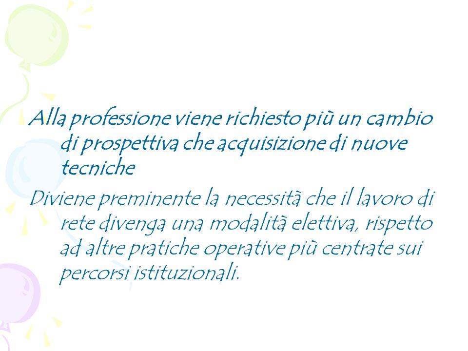 In tale scenario il ruolo del servizio sociale non sarà più di snodo unico ma, sempre più, di case management, inteso come responsabile del caso, di attivatore e organizzatore di risorse provenienti da vari soggetti Dente F.