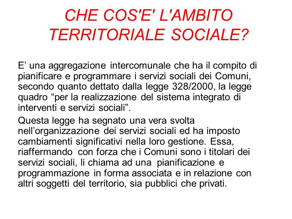 CHE COS E L AMBITO TERRITORIALE SOCIALE.