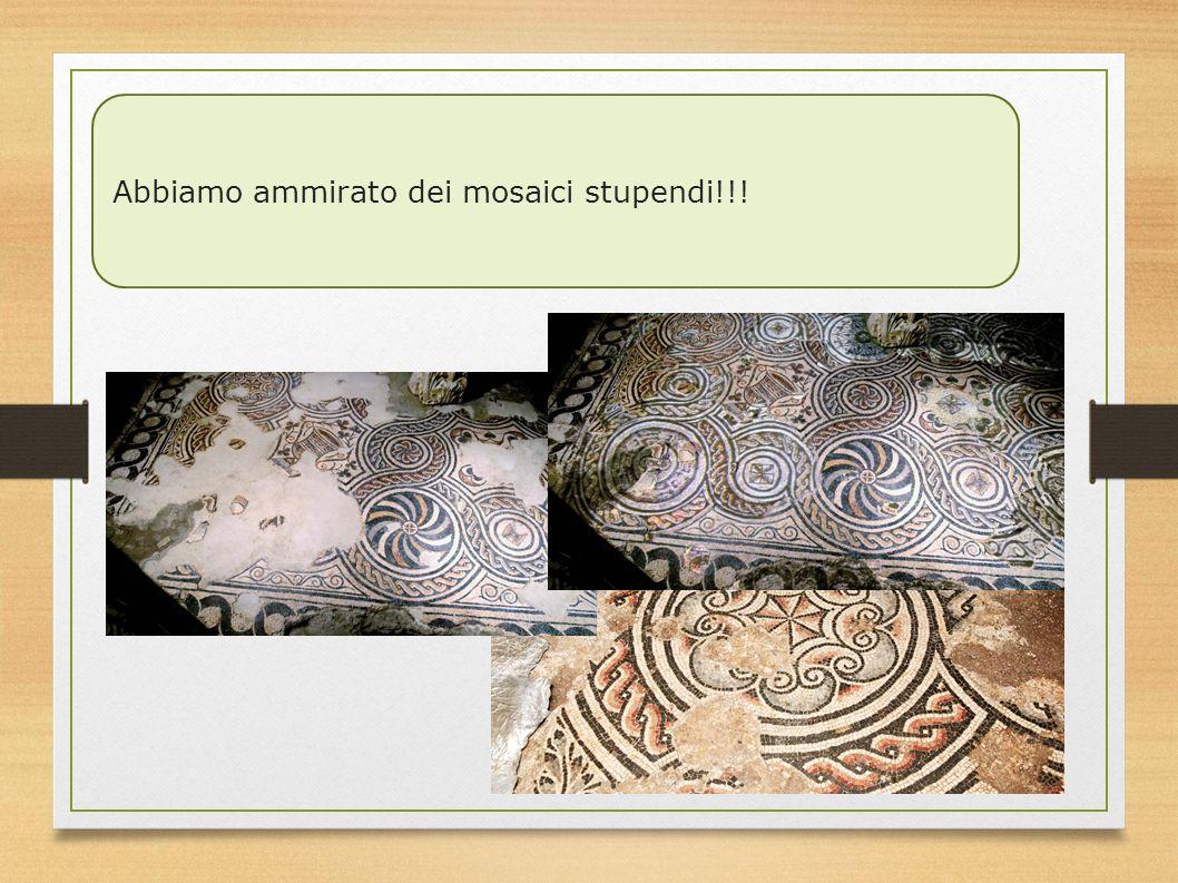 Abbiamo ammirato dei mosaici stupendi!!!