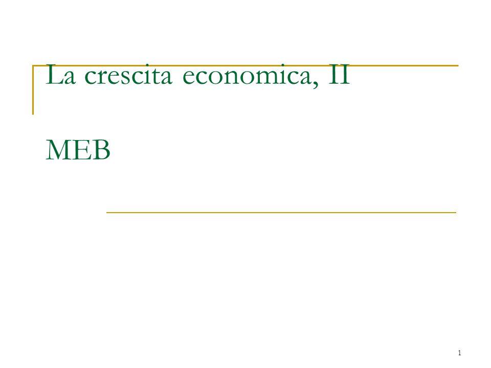1 La crescita economica, II MEB
