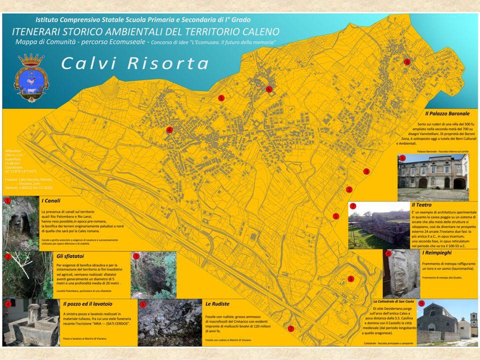 I Canali La presenza di canali sul territorio, quali Rio Palombara e Rio Lanzi, ha reso possibile, in epoca pre-romana, la bonifica dei terreni originariamente paludosi a nord di quella che sarà poi la Cales romana.
