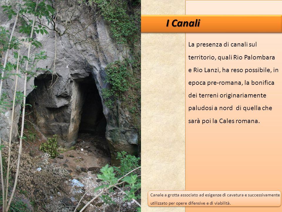 I Canali La presenza di canali sul territorio, quali Rio Palombara e Rio Lanzi, ha reso possibile, in epoca pre-romana, la bonifica dei terreni origin