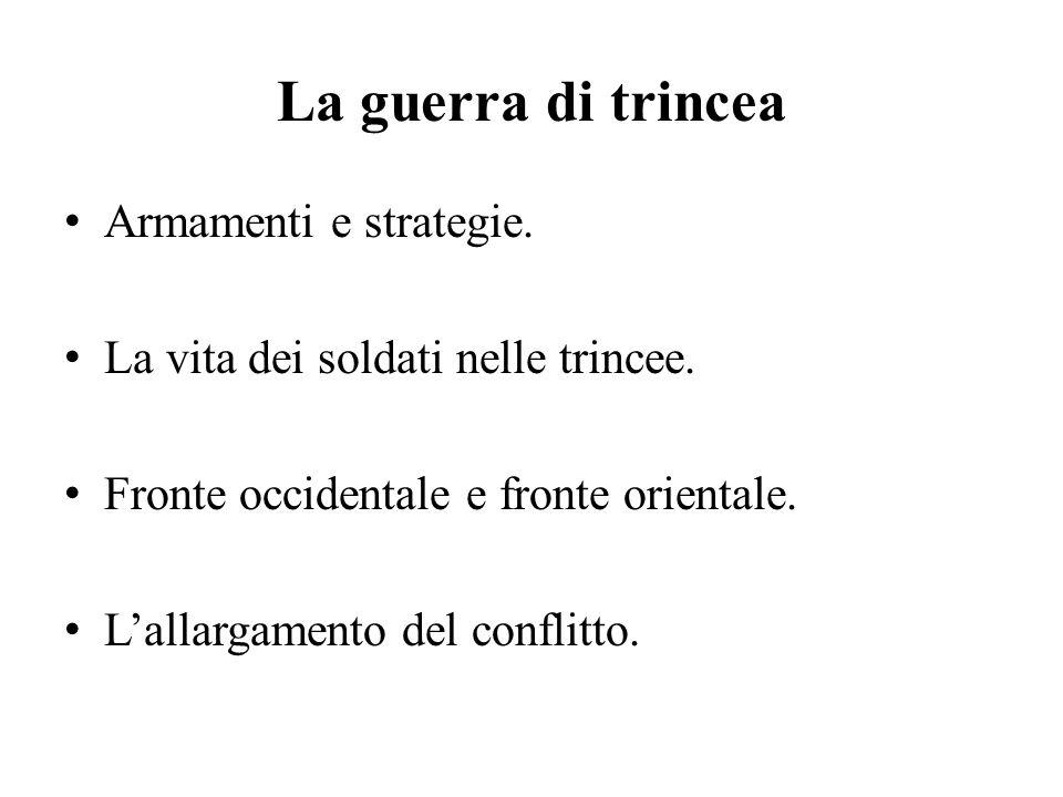L'Italia in guerra L'intervento in guerra.Le battaglie dell'Isonzo.