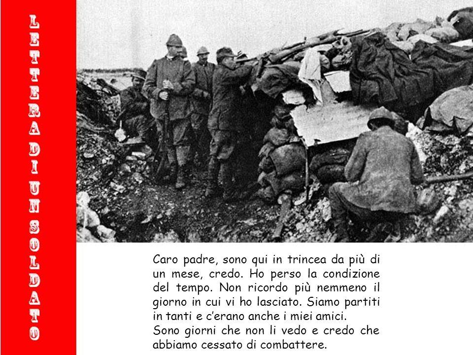 Lettera scritta da un soldato della prima guerra mondiale (per non dimenticare)