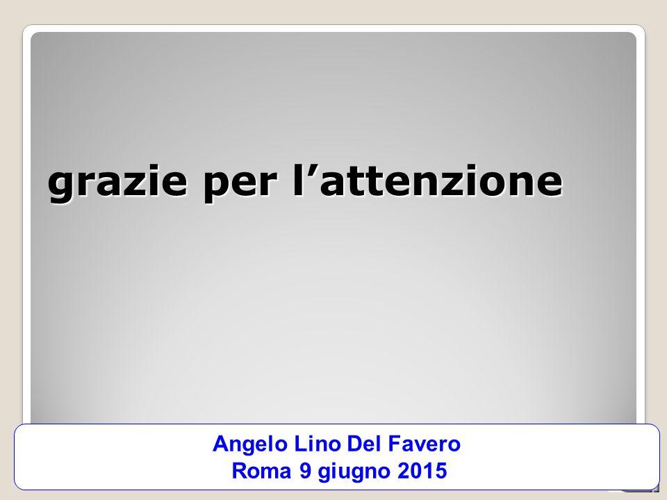 CATALIS - integrazione socio-sanitaria, 03-06-2013 grazie per l'attenzione Angelo Lino Del Favero Roma 9 giugno 2015