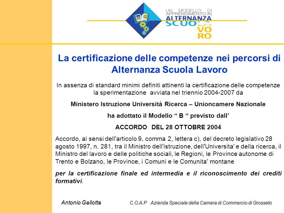 La certificazione delle competenze nei percorsi di Alternanza Scuola Lavoro In assenza di standard minimi definiti attinenti la certificazione delle c