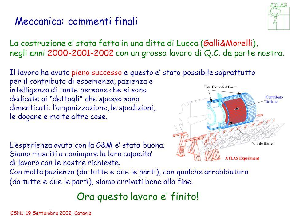 CSN1, 19 Settembre 2002, Catania La costruzione e' stata fatta in una ditta di Lucca (Galli&Morelli), negli anni 2000-2001-2002 con un grosso lavoro di Q.C.