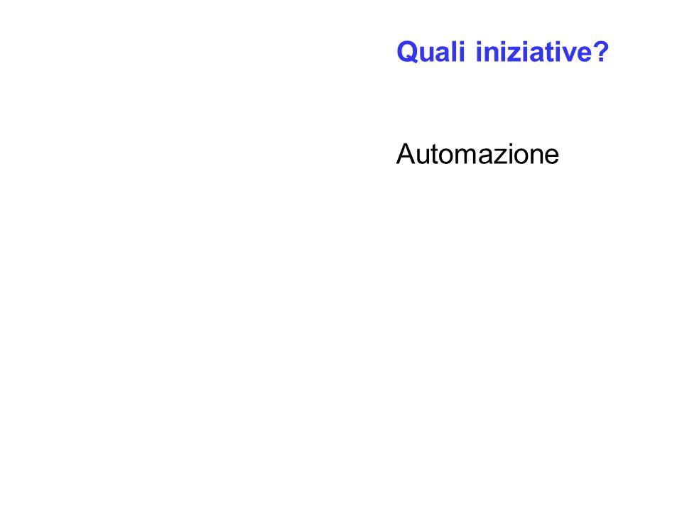 Quali iniziative? Automazione