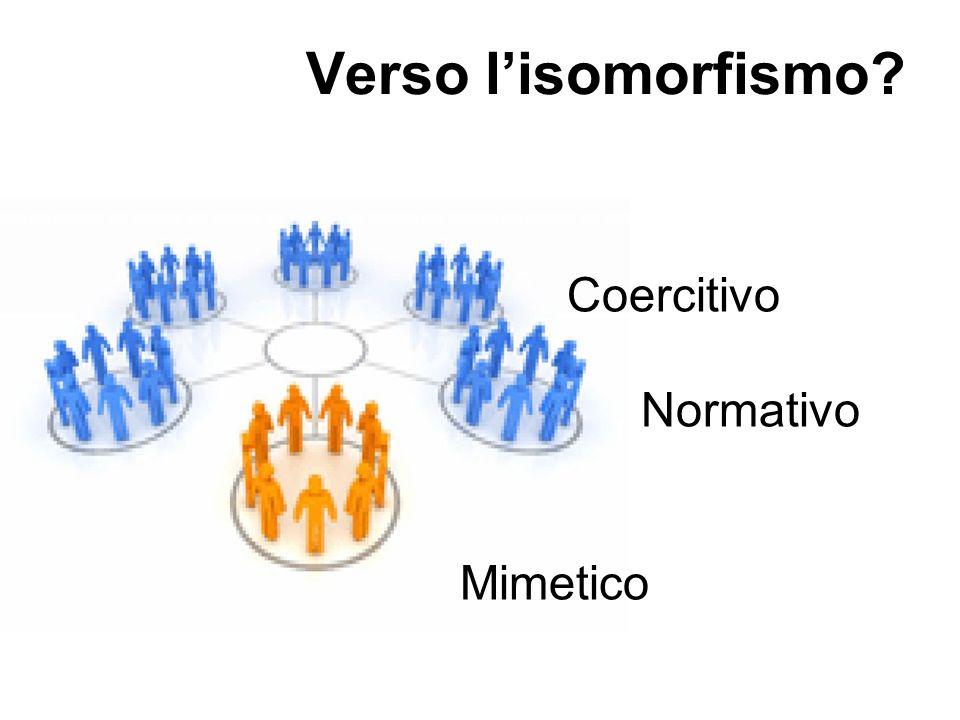 Verso l'isomorfismo? Coercitivo Normativo Mimetico