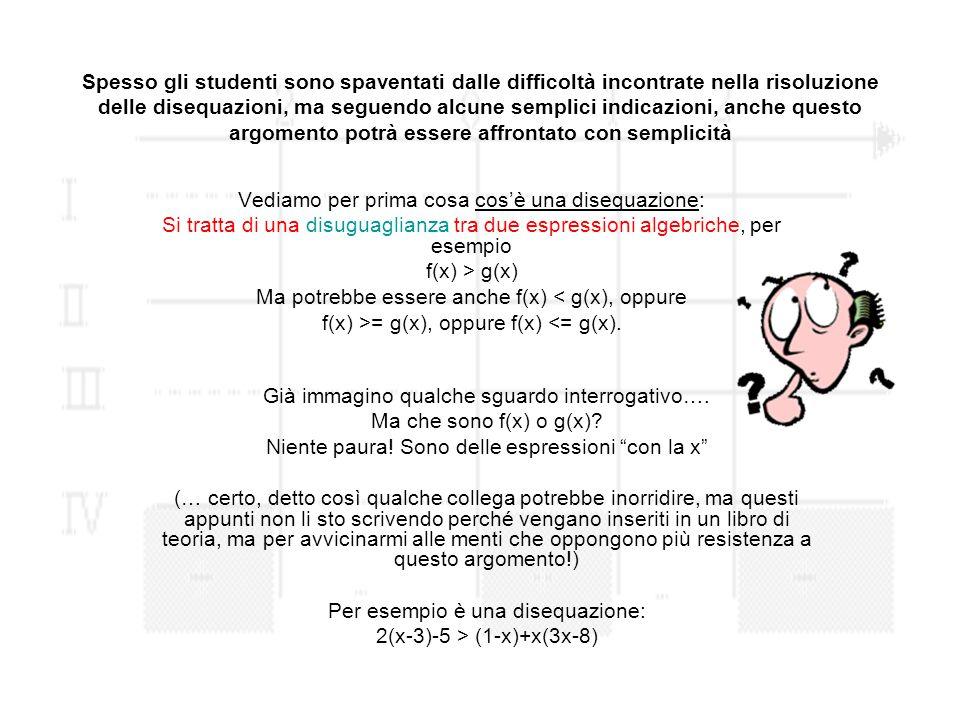 Spesso gli studenti sono spaventati dalle difficoltà incontrate nella risoluzione delle disequazioni, ma seguendo alcune semplici indicazioni, anche q
