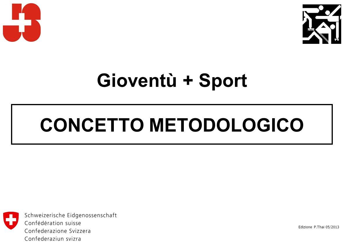 Gioventù + Sport CONCETTO METODOLOGICO Edizione P.Thai 05/2013