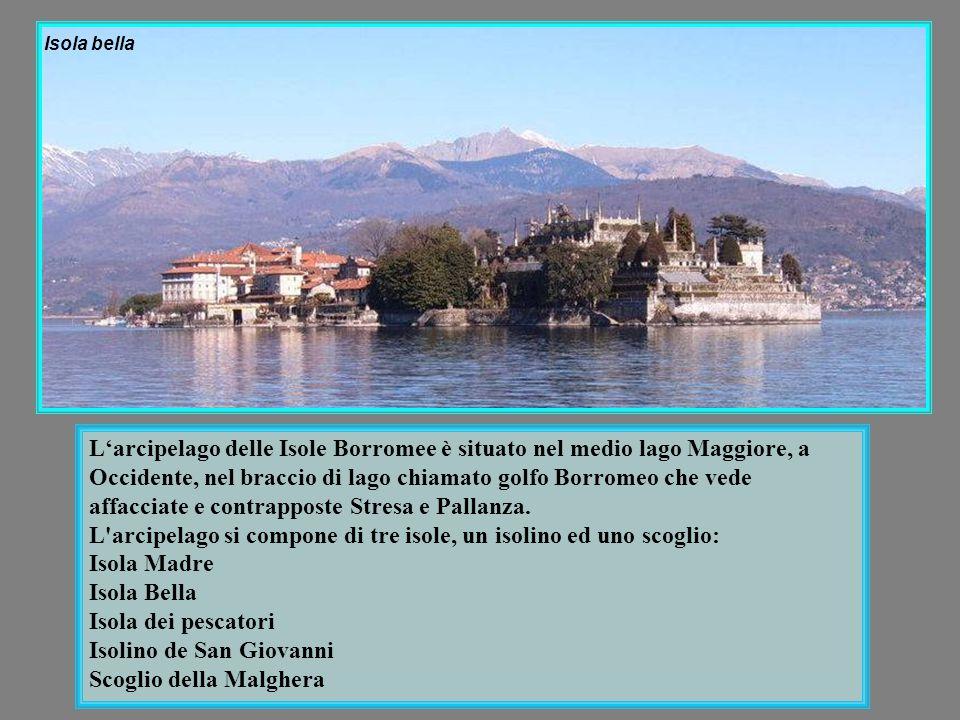 Vista del lago Maggiore, del Mottarone