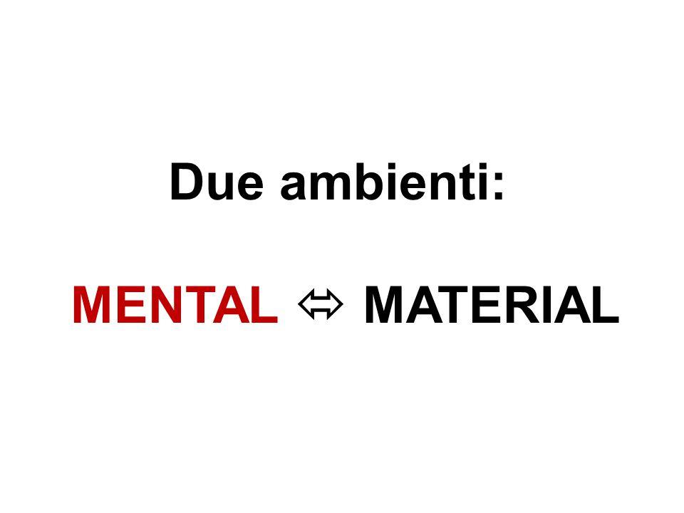 Due ambienti: MENTAL  MATERIAL