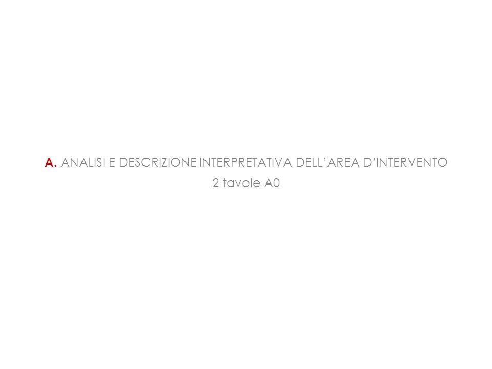 A. ANALISI E DESCRIZIONE INTERPRETATIVA DELL'AREA D'INTERVENTO 2 tavole A0